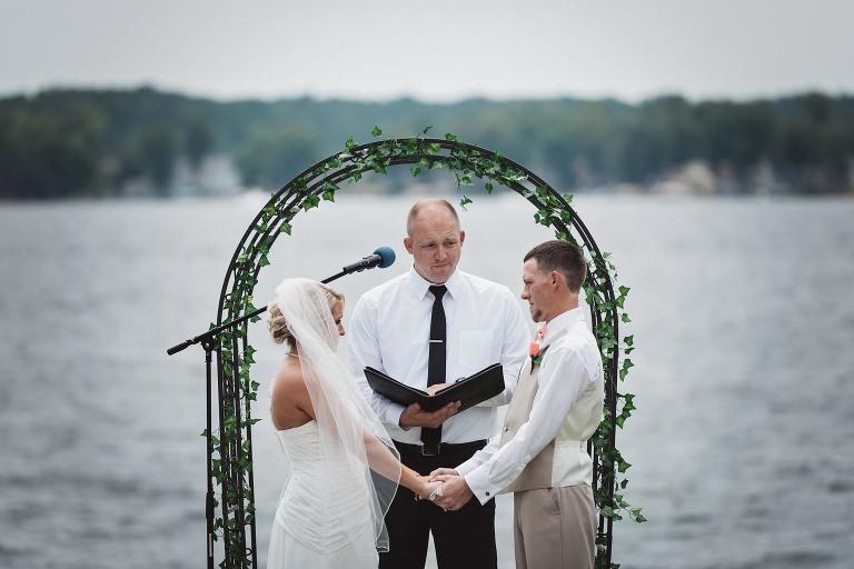 Fort Wayne Wedding Photographer, lake wedding, outdoor ceremony, wedding ceremony