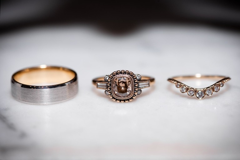Bride and groom wedding rings, Allen County Courthouse Fort Wayne Indiana wedding photography, Kasey Wallace Photography