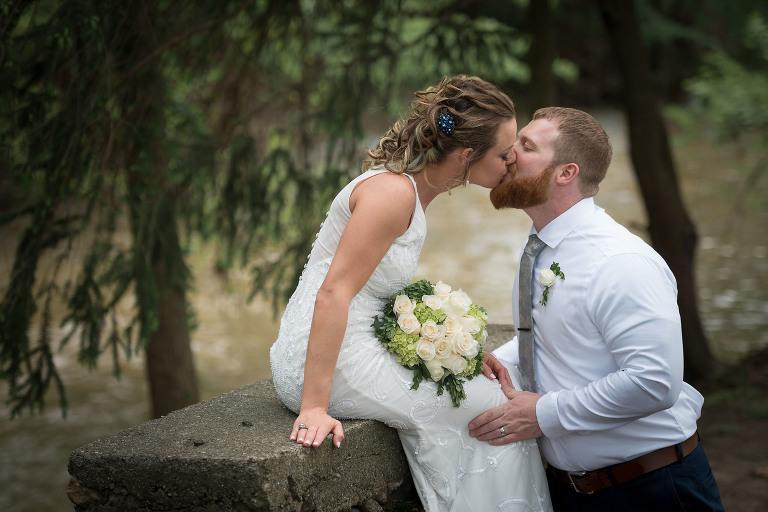 Eckhart Park outdoor wedding ceremony, bride and groom, Auburn, Indiana wedding photography - Kasey Wallace Photography - www.kaseywallacephoto.com