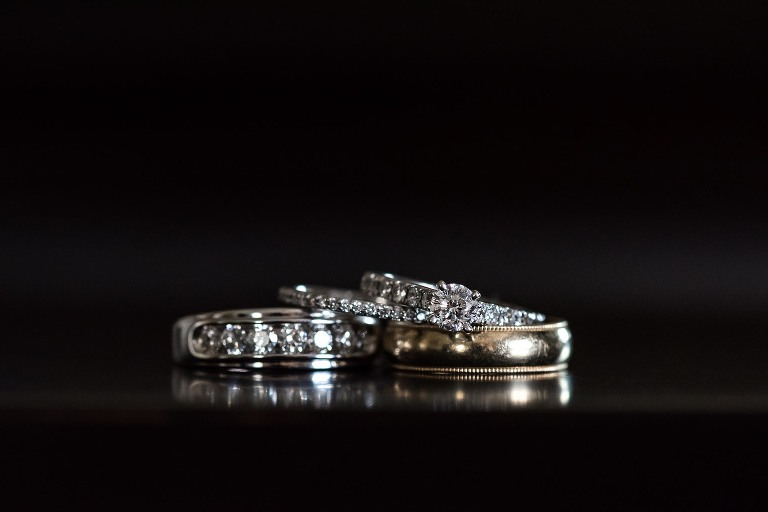 Wedding gift, wedding rings, bridal rings, intimate backyard wedding in Fort Wayne, Indiana by Kasey Wallace Photography