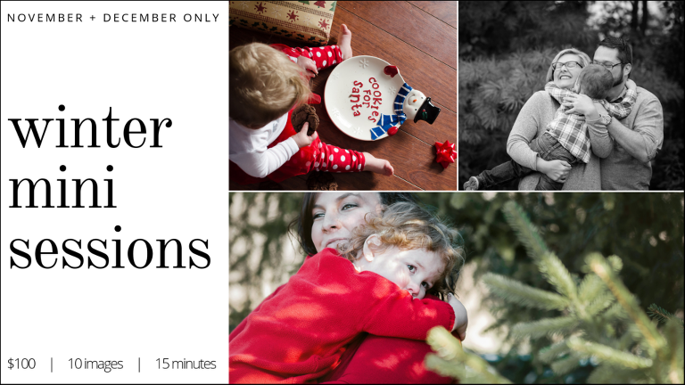 Winter Mini Sessions in Fort Wayne, Indiana