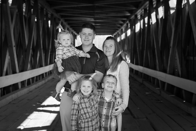 Spencerville Covered Bridge, Spencerville, Indiana Family Photography by Kasey Wallace Photography