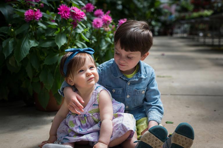 Fort Wayne family session at McNamara Florist in Fort Wayne, Indiana by Kasey Wallace Photography