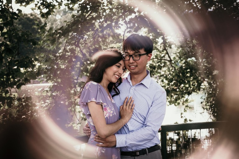 Engagement session at Wellfield Botanic Gardens in Elkhart, Indiana by Kasey Wallace Photography