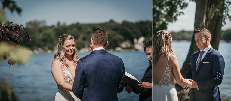 Intimate summer wedding at Clear Lake, Indiana wedding photography by Kasey Wallace Photography