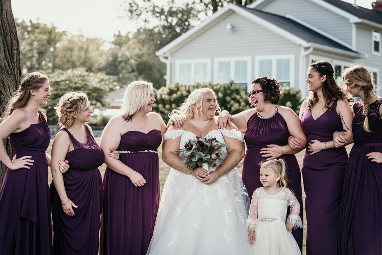 Fun bridal party photo with bride